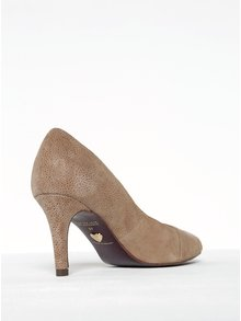 Pantofi bej din piele întoarsă cu toc stilleto Tamaris