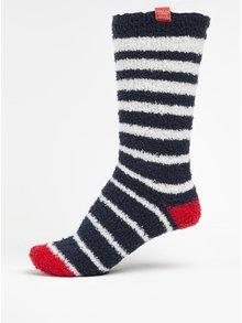 Tmavě modré dámské pruhované ponožky Tom Joule Fab Fluffy