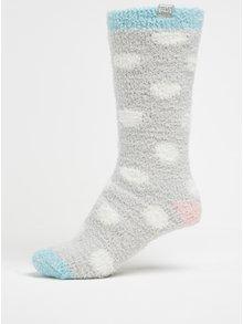 Světle šedé dámské puntíkované ponožky Tom Joule Fab Fluffy