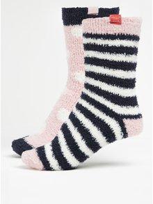 Sada dvou párů modro-růžových dámských ponožek Tom Joule Fab Shortie
