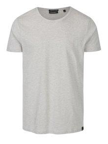 Krémové žíhané pánské tričko s krátkým rukávem Broadway Kirk