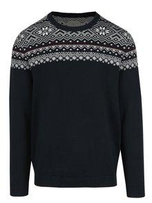 Tmavomodrý sveter s nórskym vzorom Selected Homme Christ