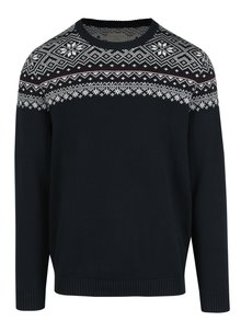 Tmavě modrý svetr s norským vzorem Selected Homme Christ