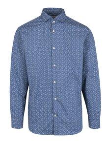 Modrá vzorovaná slim fit košeľa Selected Homme Done Sel