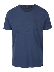 Tmavě modré pánské tričko s potiskem Broadway Bennie
