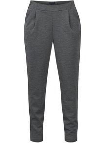 Tmavě šedé dámské kalhoty s jemným vzorem Broadway Lida