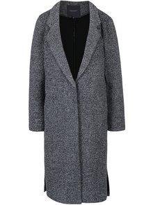Tmavomodrý dámsky melírovaný kabát Broadway Lalita