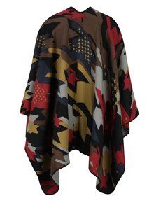Poncho cu model geometric multicolor - Desigual To The Office