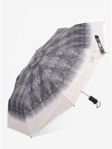Šedý vzorovaný skládací vystřelovací deštník Desigual Snake