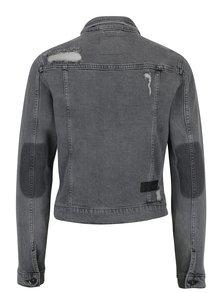 Jachetă din denim gri cu aspect deteriorat Cross Jeans