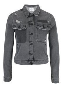 Tmavě šedá dámská džínová bunda Cross Jeans