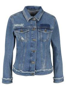 Jachetă albastră din denim cu aspect deteriorat pentru femei Cross Jeans