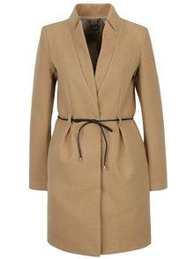 Béžový kabát s tenkým opaskom ZOOT
