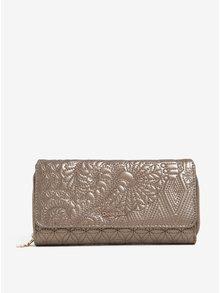 Peňaženka v zlatej farbe s jemný vzorom Desigual Padded Lottie