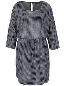 Tmavomodré šaty so vzorom Broadway Maple