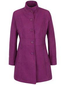 Palton violet cambrat pe talie - ZOOT