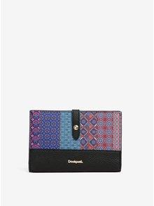 Modrá vzorovaná peňaženka Desigual Traveller Birmania