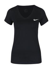 Tricou negru sport cu logo pentru femei Nike