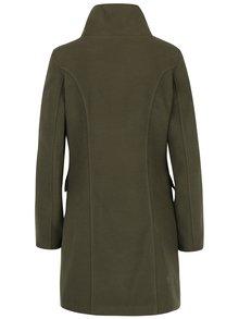Palton kaki cu nasturi și guler înalt - ZOOT