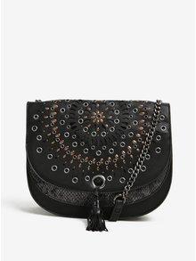 Černá crossbody kabelka s aplikací Desigual Turín Gossip