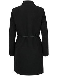 Čierny kabát s tenkým opaskom ZOOT