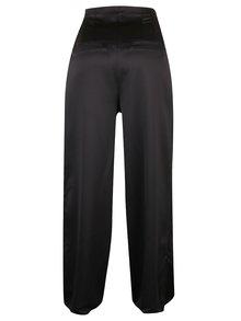 Čierne culottes nohavice s vysokým pásom VILA Larissa
