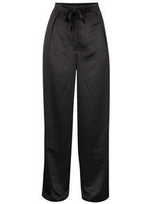 Černé culottes kalhoty s vysokým pasem VILA Larissa