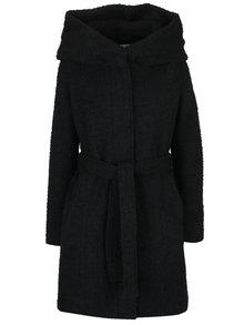 Palton boucle negru cu glugă amplă - VILA Cama