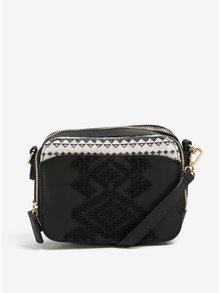 Čierna crossbody kabelka s plastickým vzorom Desigual Jasper Lila