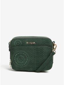 Zelená vzorovaná crossbody kabelka Desigual Jasper Agora