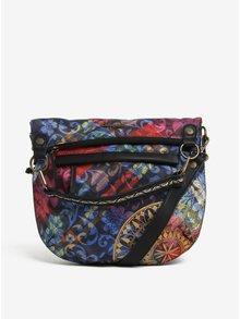 Modrá vzorovaná kabelka do ruky/crossbody kabelka Desigual Folded Transflores