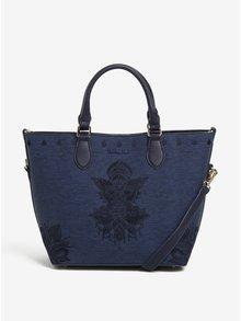 Tmavě modrá žíhaná kabelka do ruky/crossbody kabelka Desigual Florida Soft Mehndi