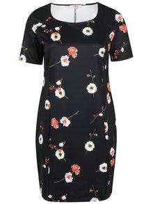 Čierne kvetinové puzdrové šaty LA Lemon