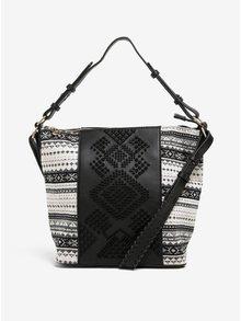 Krémovo-černá kabelka do ruky/crossbody kabelka Desigual Lila Astún