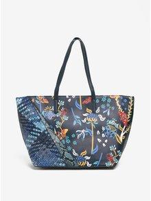 Modrá vzorovaná kabelka Desigual Francisco Winter