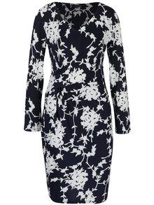 Tmavomodré kvetinové šaty Smashed Lemon