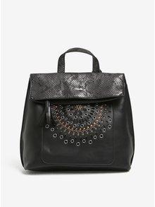 Černý koženkový batoh Desigual Vic Gossip