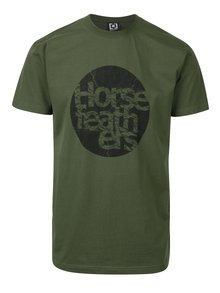 Zelené pánske tričko s potlačou Horsefeathers Bout