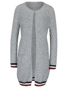 Šedý pletený cardigan s kapsami Haily´s Alba