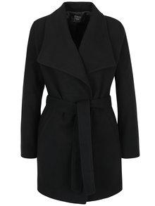 Černý kabát se zavazováním v pase ZOOT