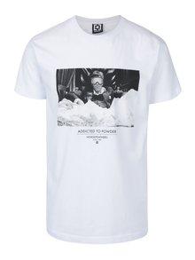 Bílé pánské tričko s krátkým rukávem a potiskem Horsefeathers Montana