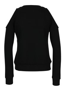 Černá mikina s průstřihy na ramenou Haily´s Vogue