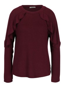 Vínový svetr s volány Haily´s Vera
