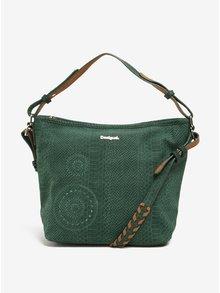 Zelená kabelka s hadím vzorem Desigual Astún Agora