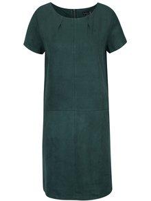 Tmavozelené šaty s krátkym rukávom Smashed Lemon