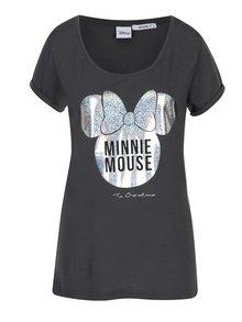 Tricou gri cu print argintiu Haily´s Minnie