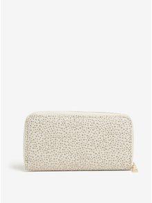 Béžová peňaženka s aplikáciou v zlatej farbe Haily´s Pam
