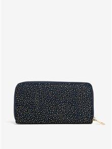Tmavomodrá peňaženka s aplikáciou v zlatej farbe Haily´s Pam