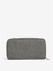 Sivá peňaženka s aplikáciou v zlatej farbe Haily´s Pam