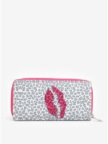 Portofel mare cu animal print și detalii roz Haily´s Hit